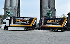 camions patar cinquantenaire bruxelles