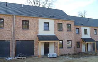 réalisation toit sur porche en ardoises Eternit