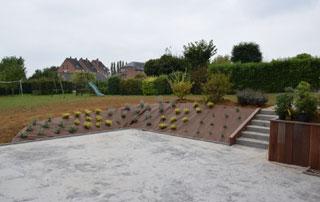aménagement de terrasse en béton