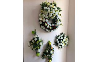 couronnes de fleurs mortuaires