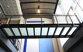 escalier vitré