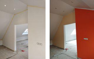 peinture murale avant-après