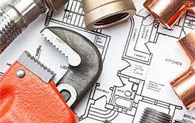 plan et outils pour travaux de chauffage