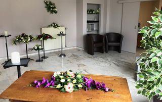 funérarium destiné à rendre hommage au défunt