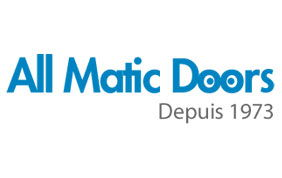 Logo d'All Matic Doors, depuis 1973.