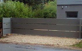 barrière en métal pour allée
