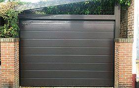 porte sectionnelle grise