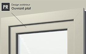 profilé de fenêtre ouvrant plat