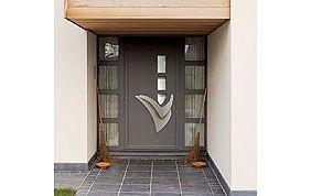 Porte extérieure avec poignée sur mesure