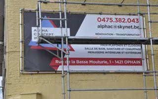 rénovation de façade réalisée par ACI