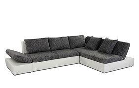 canapé d'angle gris foncé