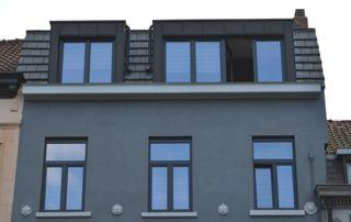 immeuble avec profilés en alu