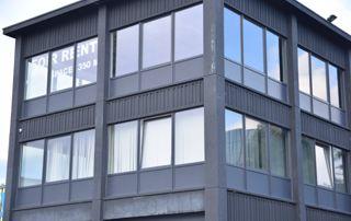 façade avec profilés en PVC
