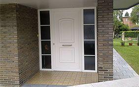 porte extérieure pvc blanc