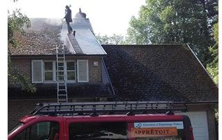 nettoyage de toit au tuyau