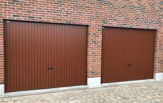 Double garage portes baculantes