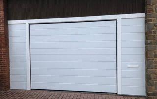 Porte de garage PVC blanc