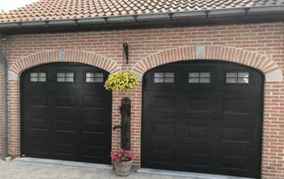 Double portes de garage enroulables