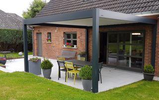 toit de terrasse en aluminium