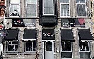 façade magasin de décoration Art & Couleurs à Liège