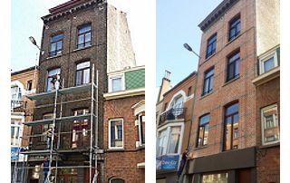 rénovation de façade avant/après