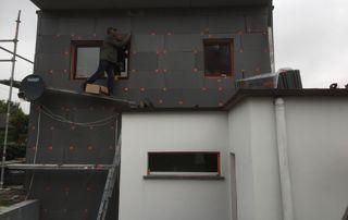 travaux d'isolation des murs extérieurs