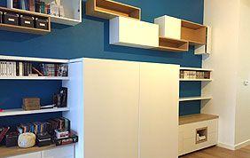 étagère et armoire sur mesure pour chambre