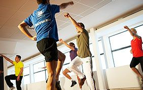 cours collectif d'aérobic