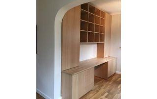 meuble de rangement sur mesure en bois