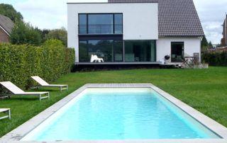 bassin avec liner beige