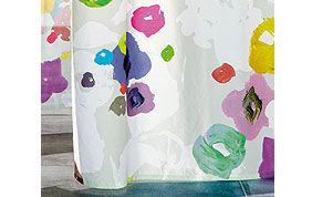 rideau à fleurs