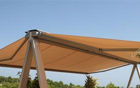 tente solaire jaune