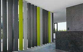 stores verticaux noir gris et vert
