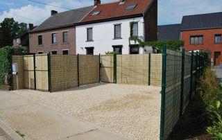 clôture en paille