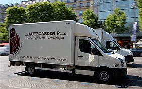 camion de transport autegarden