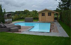 piscine extérieure en L