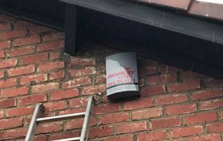 Alarme sur mur extérieur