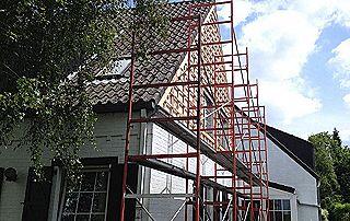 Echafaudage travaux toiture