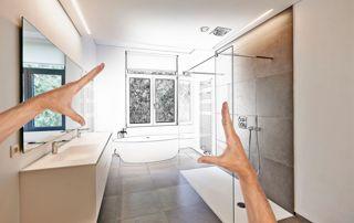 projet de salle de bain sur plan