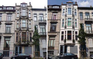 nettoyage de façade avant/après
