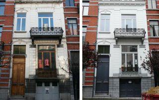rénovation de façade avant après