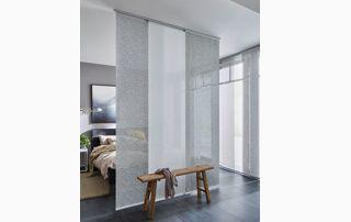 Chambre à coucher avec panneaux japonais