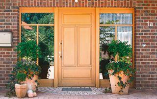 porte extérieure en bois