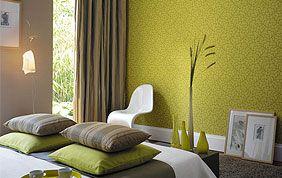Chambre à coucher de couleur vert anis