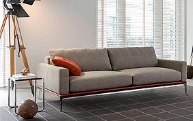 salon avec canapé en tissu