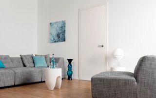 porte intérieure en bois à peindre salon