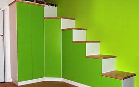 escalier sur mesure avec rangements