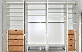 Garde-robe sur mesure avec tiroirs et étagères