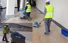 Nettoyage de sols couloir