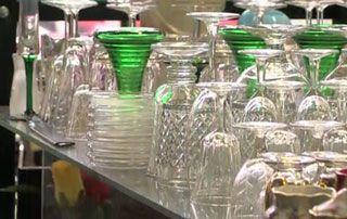 Etalage de verres